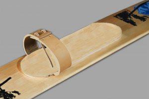 Крепления для охотничьих лыж - кожа (носковой ремень)