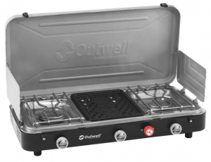 Chef Cooker 3-Burner Stove w/Grill [650258]