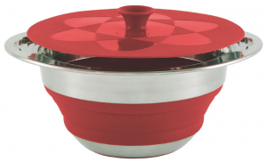 Collaps Pot w/lid 2.5L Red [650206]