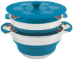 Collaps Pot w/colander & lid 4.5L Blue [650207]