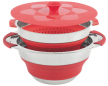 Collaps Pot w/colander & lid 4.5L Red [650208]