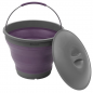 Collaps Bucket w/lid Plum [650477]